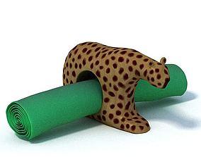 African Tribal Napkin Holder 3D