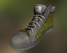 game-ready clothes Boot 3D model low poly