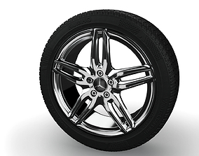 3D AMG Rim and Tyre