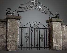3D model Cemetery Gate 2 CEM - PBR Game Ready