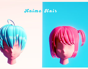 Anime Hair 3D asset