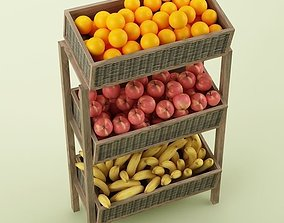 Store Fruits Stand 3D model