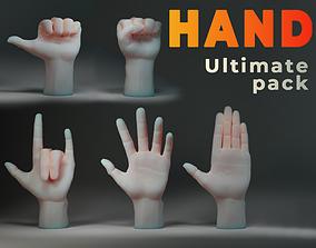 Hand IMM Brush 3D model realtime