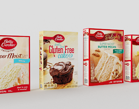3D model Betty Crocker Cake Mix Packages
