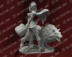 3D printable model Little Red Riding Hood