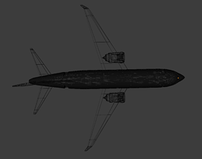 3D model Boeing 737 Low Poly