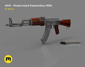 AKM - Modernized Kalashnikov Automatic Rifle 3D asset