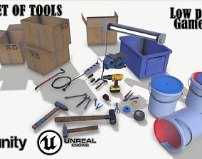 Big set of tools 3D model