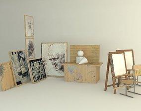 3D model paintingroom