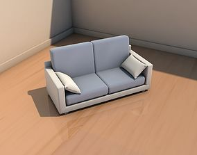Sofa with cushions 3D model