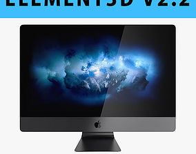E3D - Apple iMac Pro 2017 27 Inches model 3D