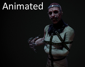 3D model Horror lunatic straightjacket