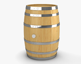 Wooden Barrel 3D coaster