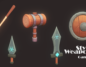 3D asset Stylized Weapons Pack