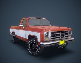 3D model rigged Gameready american pickup