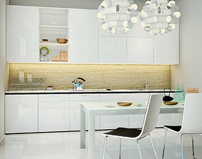 3D model Lumion10 Scene - White Kitchen Room