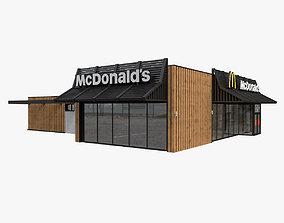 McDonalds Restaurant exterior-public 3D model
