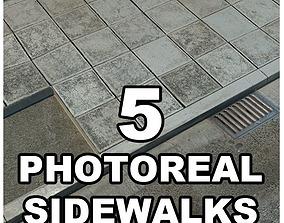 3D Photorealistic Sidewalks Package