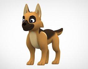 German Shepherd Puppy 3D asset