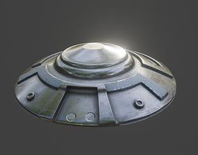 3D model VR / AR ready UFO Spaceship