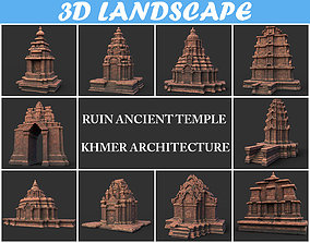 Ruin Ancient Temple - Khmer Architecture Pack A 3D asset