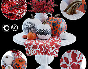 Decorative composition pumpkin 3D