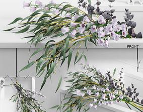Flowers in sink 3D