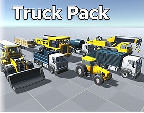 Truck Pack 3D model VR / AR ready