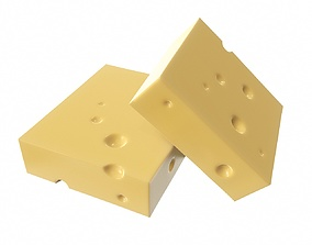 Cheese square 3D
