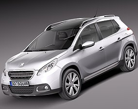 3D model Peugeot 2008 2014