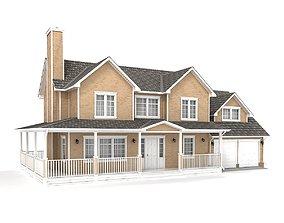 american 3D model Cottage 37