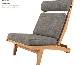 Low Lounge Chair by Hans J Wegner 3D