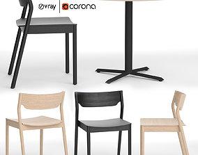 Tangerine chair with Morison table 3D model