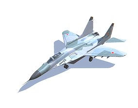 MIG-29 Fulcrum Jet Fighter Aircraft 3D asset