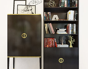 Fererro bookcase cabinet The Sofa And Chair Co 3D