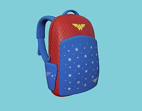 Wonder Woman Backpack - Character Fashion Design 3D asset