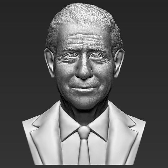 Prince Charles bust for 3D printing