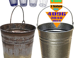 metal bucket - PBR Game-Ready water 3D asset