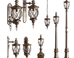 3D asset exterior light set 001