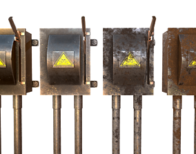 3D model Low Poly Electrical Boxes