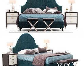 lindsey Bernhardt Lindsey Upholstered Bed 3D model