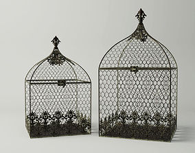 Square Birdcages 3D model