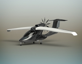 Aircraft 3D navy