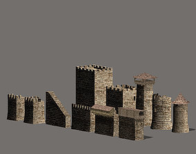 Castle construction set 3D model