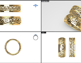 greek pattern ring model