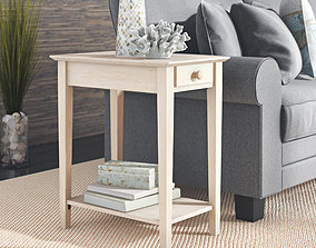 Wembley Solid Wood End Table 3D model