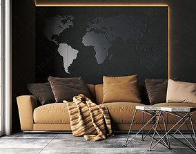 livingroom black 3D
