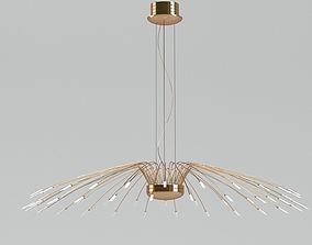 3D Gold Pendant Lamp