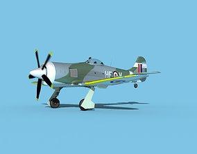 Hawker Tempest MKII V02 RAF 3D model