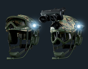 Military Helmet Game Ready 3D model
